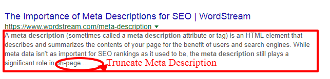 truncate meta description