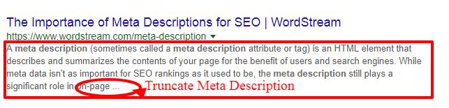 truncate meta description