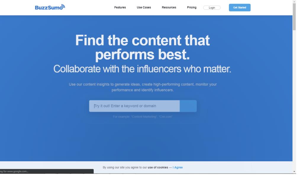 BuzzSummo tool for Social media agency