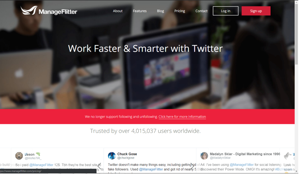 Manage Flitter: twitter management tools