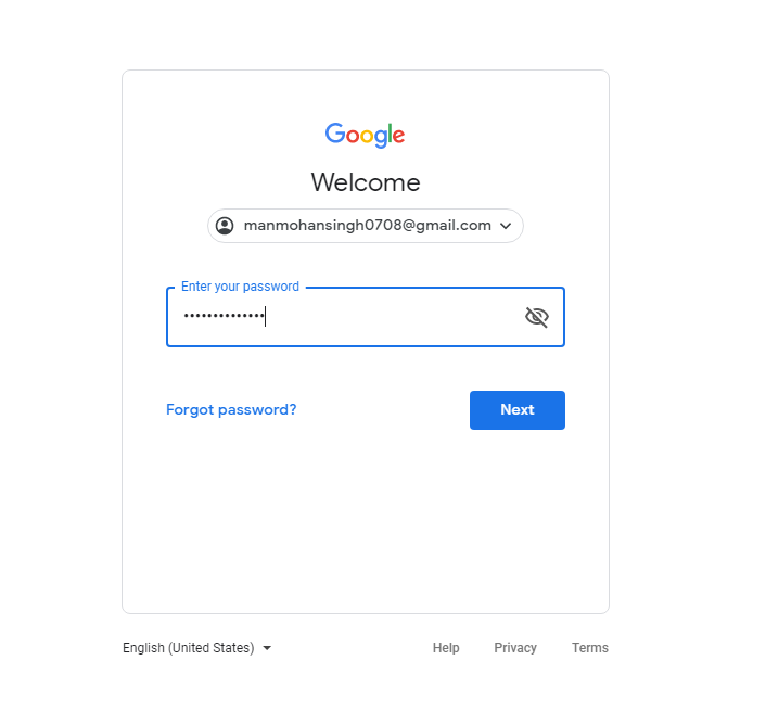 Login to Google Ads Account