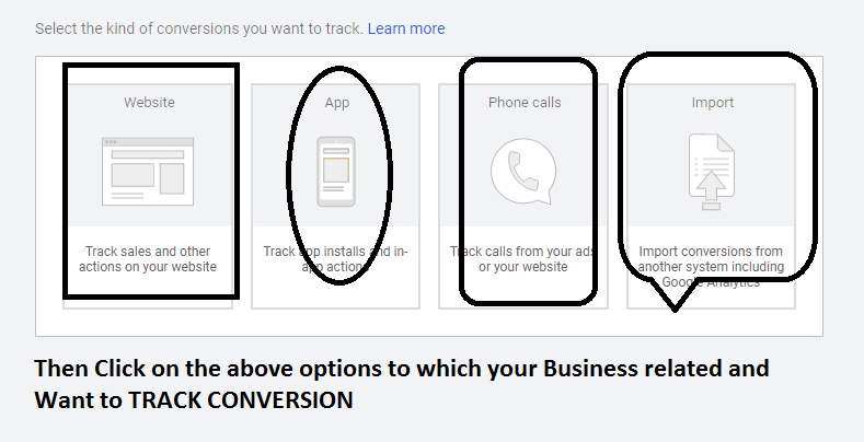Conversion tracking options